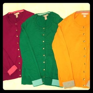 Three (3) Banana Republic merino cardigans bundle